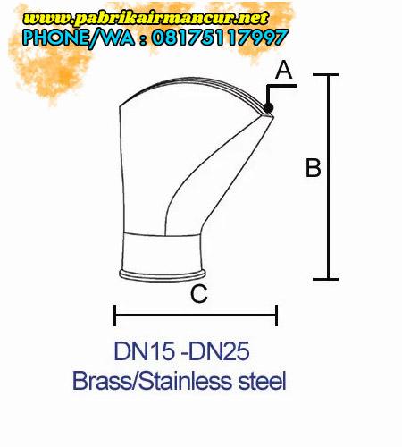 Deskripsi Nozzle kipas stainless berkualitas