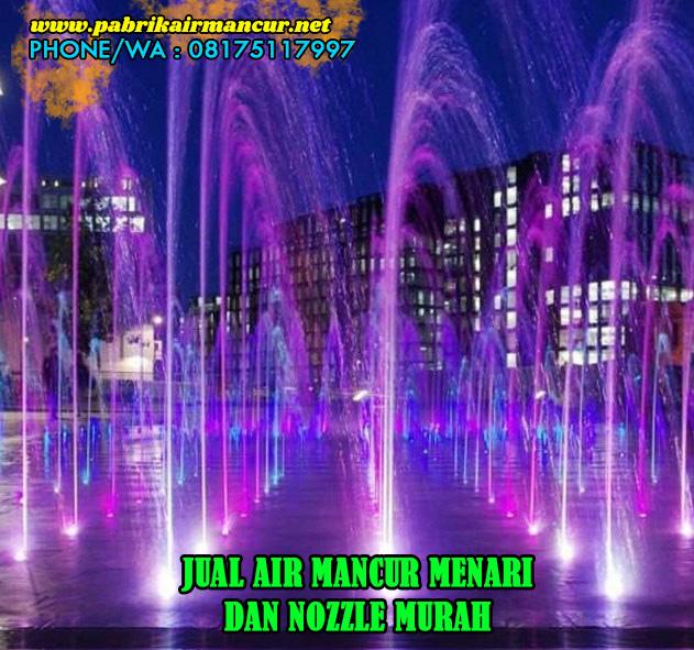 Hasil pengaplikasian nozzle air mancur menari nozzle single shooting