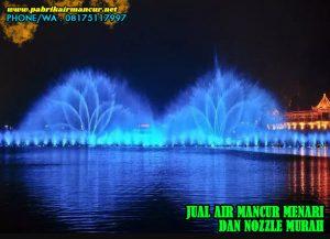 Penggunaan nozzle 1d air mancur menari