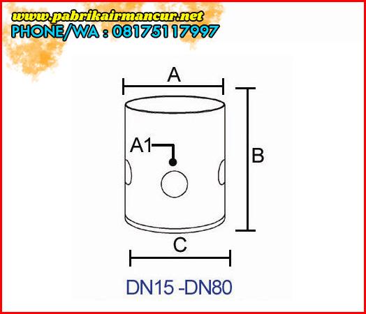 Ukuran Nozzle Buble Foam air mancur